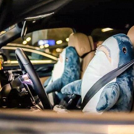 138 centímetros Boneca Brinquedos de Pelúcia Almofada Do Sofá Macio Stuffed Animal Tubarão Tubarão Presente Da Menina Da Boneca de Pelúcia Crianças Foto Props Peluche brinquedos