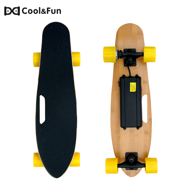 Remote Control Skateboard >> Us 109 9 Cool Fun Electric Skateboard With Remote Control Skateboard Adult Scooter Motorized Hub 2 Wheel Hoverboard Skateboard In Electric Scooters