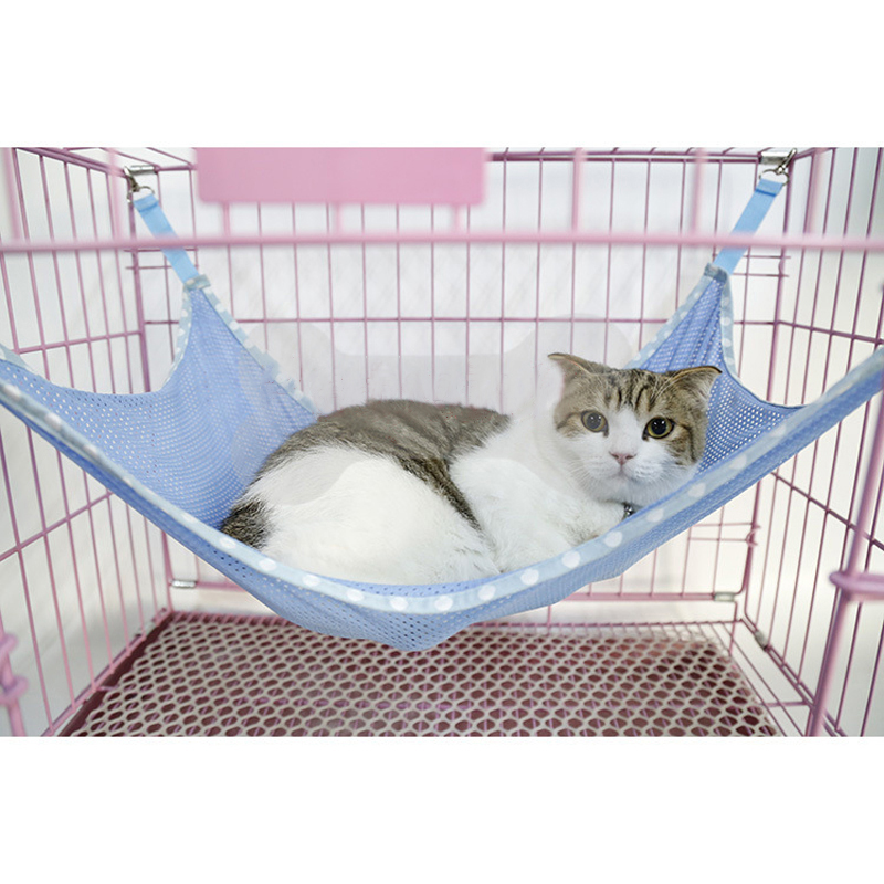 under chair cat hammock dining table covers india dropship spring summer use breathable mesh dog crate hanging bed comfortable cattery in beds mats from home garden