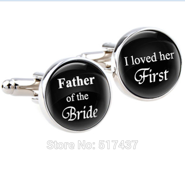 1 pair Wedding cufflinks,Father of the bride, I loved her first mens wedding day accessories,wedding cuff links for mens