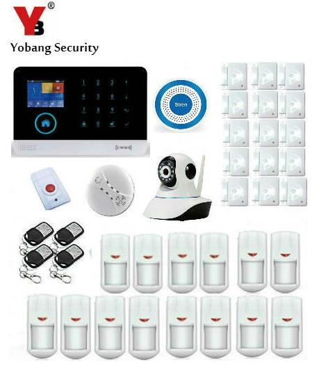 YoBang Security WIFI 3G Wireless Burglar Alarm Support Android IOS Phone APP Control Home Office Security System 3G Panel. ...