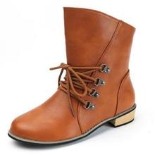 Марка искусственная кожа мотоботы Байкерская обувь Для женщин готический панк combot пинетки ботинки на платформе до середины икры Сапоги и ботинки для девочек для Для женщин