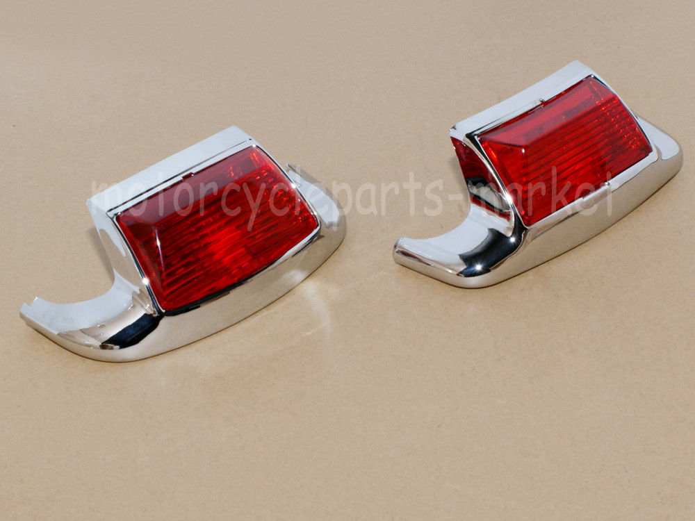 Red Front Rear Fender Tip Light Mudguard Trim Driving