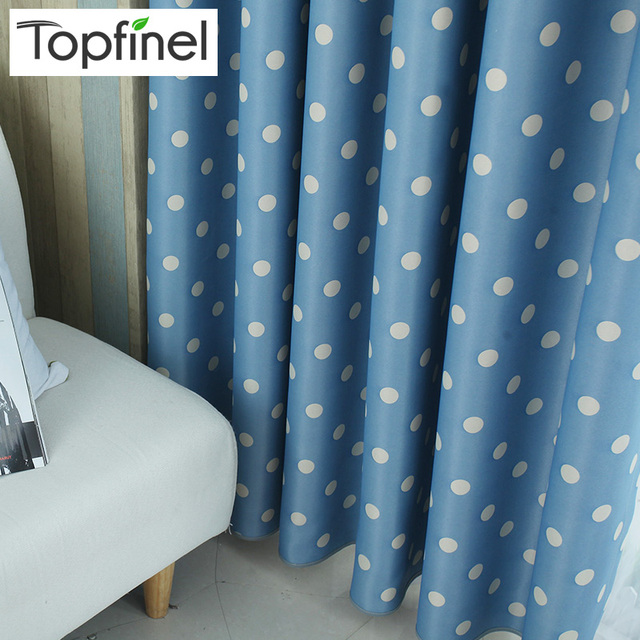 Charming Top Finel Polka Dots Blackout Window Curtains For Living Room Bedroom  Children Curtain Panel For Kids