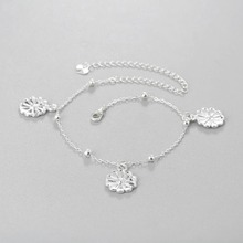 Vintage Flower Bead Anklets For Women- 1 Pcs