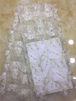 French Tulle Lace Fabric Latest High Quality African Sequins Lace Fabric Embroidery Beads African Party Lace Fabric X12
