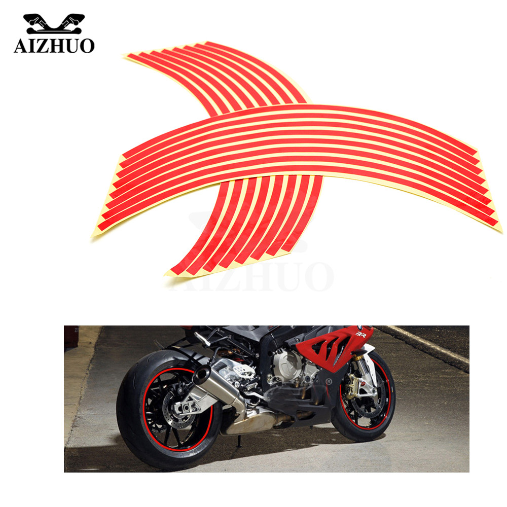 17inch/18inch wheel Strips Motorcycle Reflective Wheel Sticker for honda CB 599 919 400 CB600 HORNET CBR 600 F2 F3 F4 F4i 900RR mf2300 f2