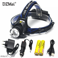 5000 Lumens Led Headlamp Cree Xml T6 Xm L2 Headlights Lantern 4 Mode Waterproof Torch Head