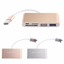 2-в-1 USB3.0 + Micro USB OTG HUB SD/TF Card Reader Combo для смартфонов Tablet ПК