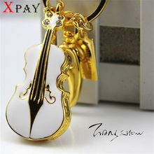 XPAY pen drive metal keychain 32gb 16gb 8gb 4gb Metal crystal violin usb flash drive pendrive waterproof usb stick Hot(China)