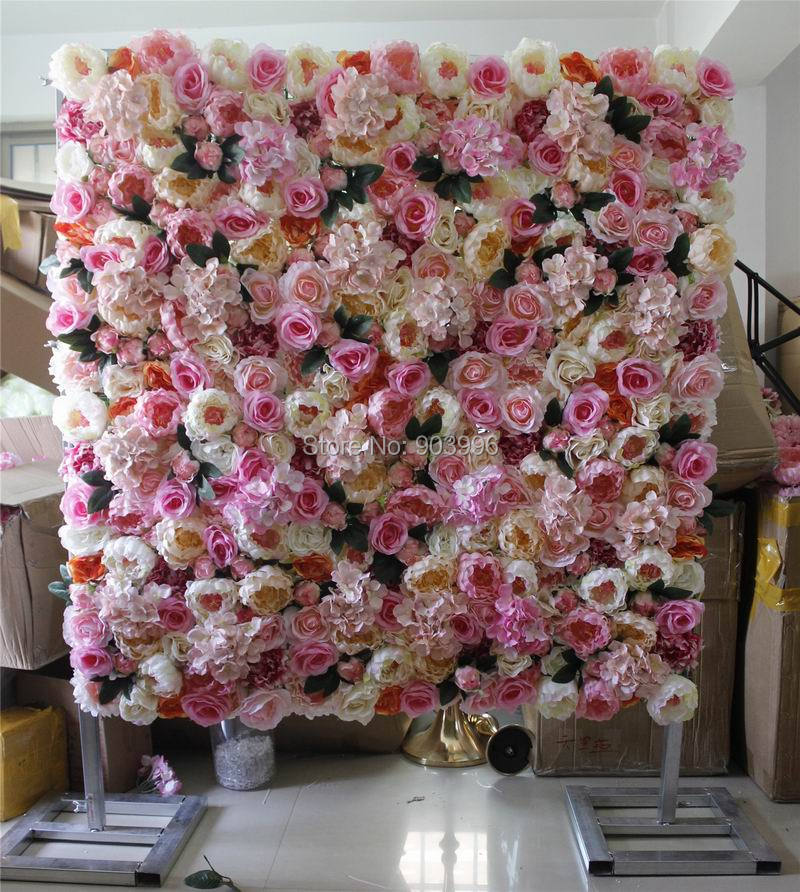 2017 high quality 10pcslot wedding flower wall stage backdrop decorative wholesale artificial flower table