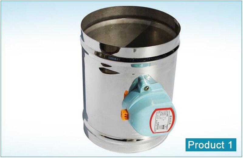 200mm stainless steel air damper valve 220v electric air. Black Bedroom Furniture Sets. Home Design Ideas