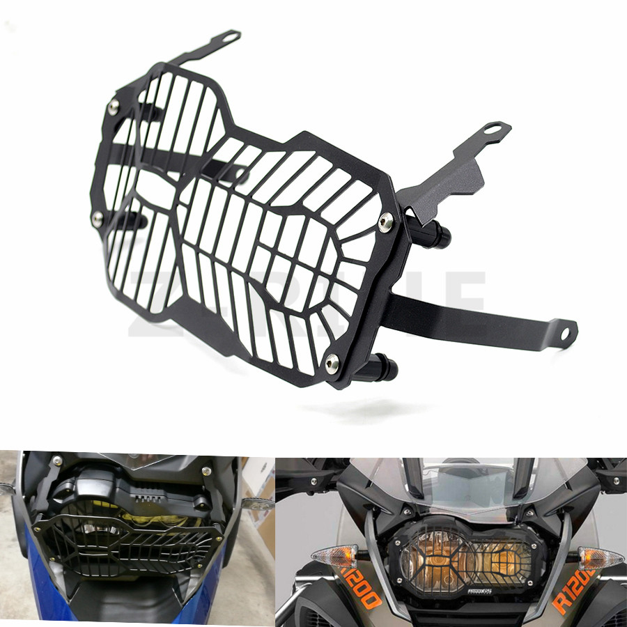For High Quality Motorcycle Headlight Head light Grill Guard Cover Protector For BMW R1200GS 2013 -2016 Adventure R1200 GS R 120 hot motorcycle headlight head light grill guard cover protector for bmw r1200gs adventure 2013 2014 2015 2016 r 1200gs 1200 gs