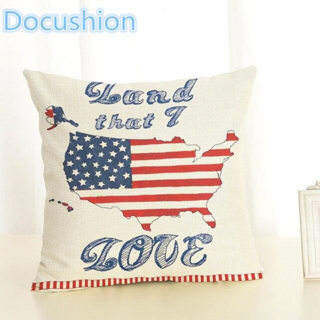 40 New Arrive American Flag Cushion Cover Decorative Sofa Throw Extraordinary American Flag Decorative Throw Pillow