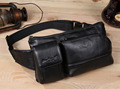 Men Genuine Leather Cowhide Vintage Hip Bum Belt Pouch Fanny Pack Waist Wallet Purse Travel Messenger Shoulder Sling Chest Bag