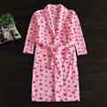 2016 Spring Autumn Brand Bathrobe Women Soft Flannel Robes Female Long-Sleeve Turn-down collar Bathrobe Ladies casual homewear