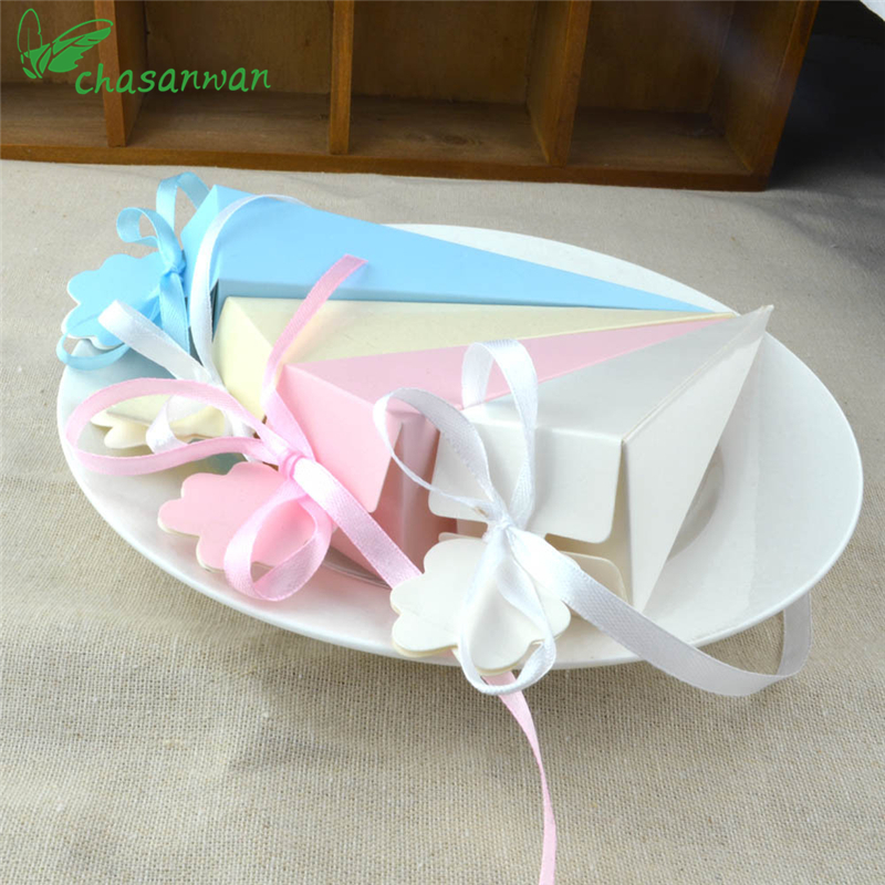 CHASANWAN 10 pcs Baby Shower Bridal Cone Shape Candy Boxes christmas Wedding Decoration Birthday Party Supplies Accessories,Q