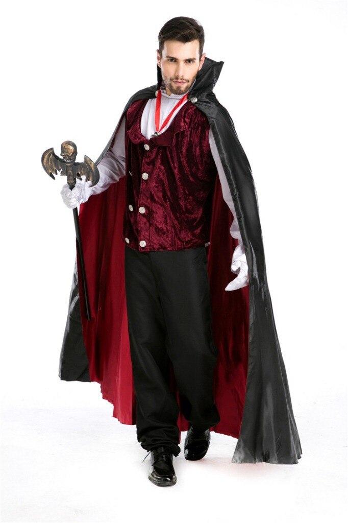 real shot luxury man vampire costumes halloween masquerade man vampire diary vampire king dracula costume h1552827 on aliexpresscom alibaba group - Halloween Dracula Costumes