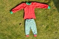 Casual kinderen katoenen pyjama effen kleur en streep kleding baby baby kerst pyjama