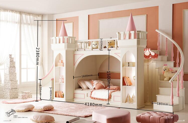 Muebles De Madera Para Quarto Meja Mewah Tempat Tidur Bayi Literas - Mebel - Foto 6