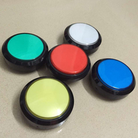 wholesale 5pcs of 100mm Round 12v illuminated LED arcade Push Button with Micro switch For JAMME MAME machine 5 colors available