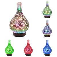 Ultrasonic Glass Aroma Humidifier Colorful Vase Shape 12W 4H Aromatherapy