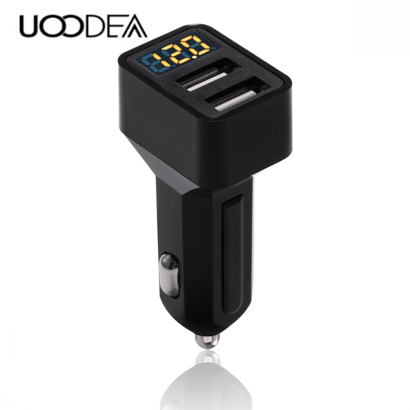 UOODEA Car Charger Dual USB output 2.4A fast charging Mobile Phone Travel Adapter Cigar Lighter DC 12-24V Car Phone Charger