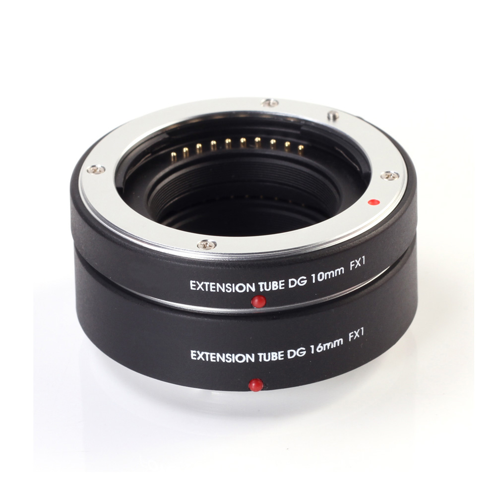 Mise au Point automatique D'extension Macro Tube 10mm + 16mm pour FujiFilm Fuji FX Mont X-E3 X-E2S X-M1 X-Pro2 X-H1 X-A2 A3 A5 A20 T1 T10