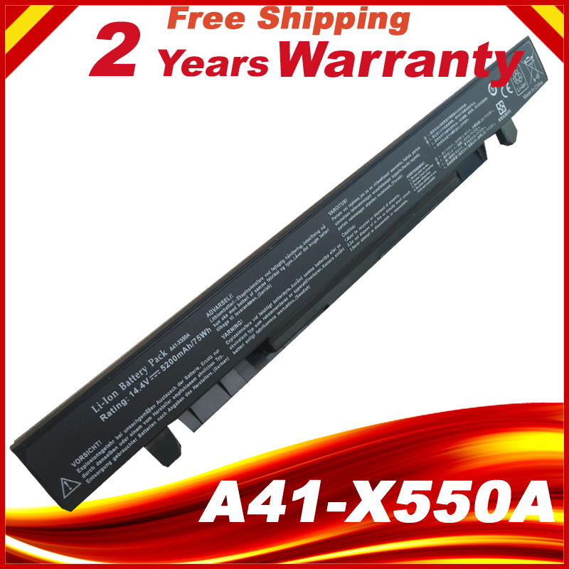 5200mAh Batterie pour Asus X550CC A41-X550A A41-X550 X550 X550C X550B X550V X550D X450C X452