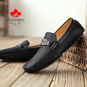 Męskie mokasyny wiosna 2020 moda łódź obuwie męskie marki mokasyny skórzane męskie buty mężczyźni wygodne napęd męskie buty na co dzień tanie i dobre opinie DECARSDZ Syntetyczny Przypadkowi buty Slip-on Pasuje prawda na wymiar weź swój normalny rozmiar Lato DK-DD0033 Polka dot