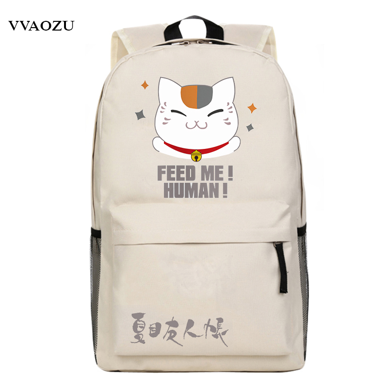 Japan Anime Natsume Yuujinchou Cosplay Backpack School Bag Cartoon Rucksack Knapsack Schoolbags Mochila Escolar for Boys Girls japan pokemon harajuku cartoon backpack pocket monsters pikachu 3d yellow cosplay schoolbags mochila school book bag with ears