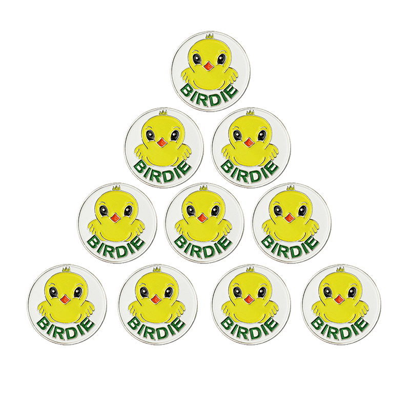 PINMEI Golf Ball Mark Sets None Magnet Golf Markers Pack Of 10 Golf Club Usa Flag Fly Eagle Birdie Luck Clover Patterned Markers