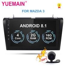 YUEMAIN 2Din Android 8,1 Автомобильный мультимедийный радио плеер для Mazda 3 2004-2009 лента Авторадио рекордер gps навигация wifi камера
