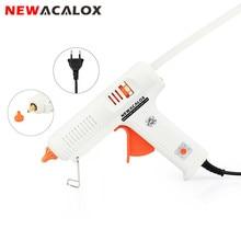 NEWACALOX 150W EU DIY Hot Melt Glue Gun 11mm Adhesive Stick Rod Industrial Electric Silicone Thermo Gluegun Repair Heat Tool