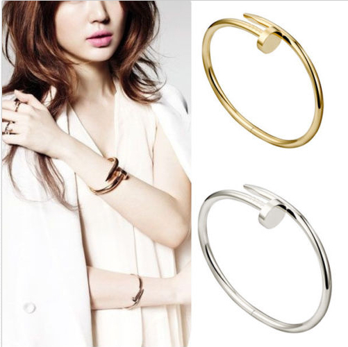 db477e00fa7 Free Shipping New Arrival Celebrity Womens Mens Stainless Nail Bracelet  Jewelry Silver Gold Rose Gold Nail Bangle Bracelet D001-in Bangles from  Jewelry ...