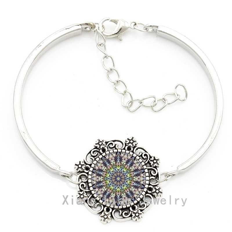 TAFREE Vintage ấn độ mandala zen flower choker necklace earrings set bracelet 2016 thời trang phụ nữ quyến rũ bộ đồ trang sức HT003