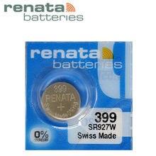 Renata bateria de longa duração 399 sr927w, bateria de relógio, botão de célula tipo moeda, 1 peça