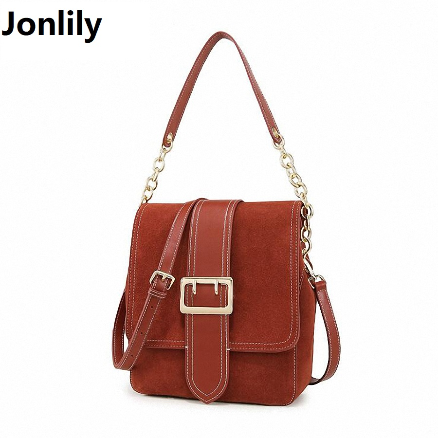 New Fashion Soft Real Genuine Leather Chain Women's Handbag Ladies Shoulder Tote Messenger Bag Purse Satchel Mochila SLI-397 new fashion women girl student fresh patent leather messenger satchel crossbody shoulder bag handbag floral cover soft specail