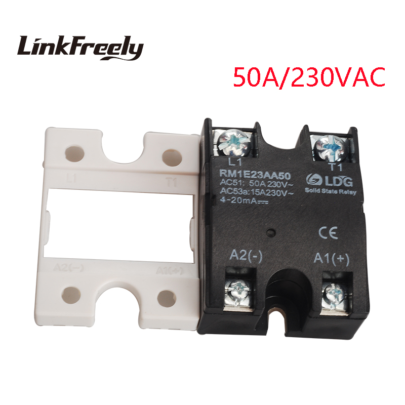 RM1E23AA50 Single Phase AC Solid State Relay Industrial Analog Switching SSR 50A/24-280VAC Isolation Voltage Regulator Relay мини elm327 bluetooth obdii автоматический сканер b06 автомобилей диагностический сканер