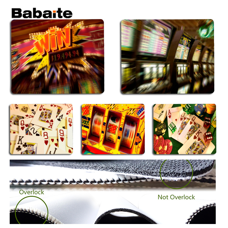 Babaite Simple Design Gambling Large Mouse pad PC Computer mat Size for 180x220x2mm and 250x290x2mm Small Mousepad