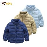 27 Dzieci kurtki płaszcze dla baby boy ubrania nowe jesień zima gruby płaszcz bawełna cieplej dzieci gruby znosić watowe dzieci parki