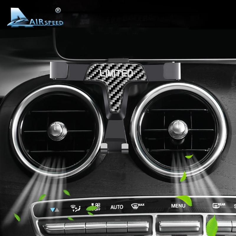 Carbon Limited for Mercedes Benz GLA CLA A Class W177 C Class  GLC W205 E Class W213 CLE GLS Accessories Phone Holder Bracket