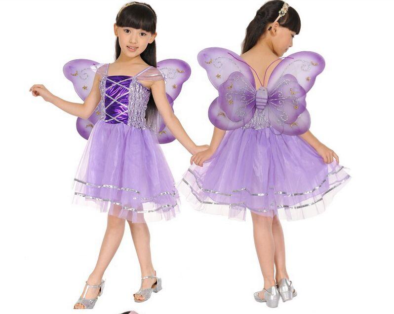 CaGiPlay Kids Halloween Costume girl birthday party Butterfly Fairy Skirt  dance skirt Fancy dress set Headband 34c84e55adf7