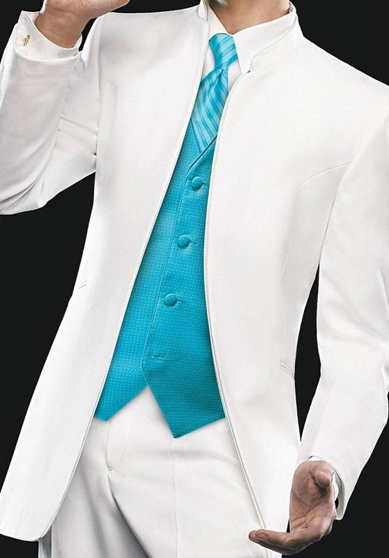 Top Selling New White Blue Black Groom Tuxedos Groomsmen Best Man ...