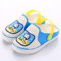 Pequeno verão nova-doce colorido bonito dos desenhos animados meninos e meninas escorregar sandálias baotou shoes crianças chinelos