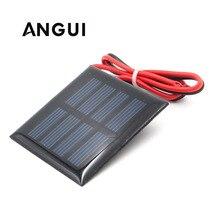 1 в 1,5 В 2 в солнечная панель с кабелем 30 см, мини Солнечная система «сделай сам» для аккумулятора, сотового телефона, зарядное устройство 0,5 Вт 0,45 Вт 0,65 Вт 0,2 Вт 0,3 Вт 0,6 Вт солнечная энергия