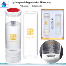 IHOOOH factory H2 generator water cup 600ml Anti-Aging Ionizer electrolysis water Hydrogen and oxygen separation Japanese SPE spe water ionizer generator hydrogen water cup anti aging antioxidant electrolysis orp energy healthy bottle
