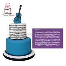 Musical Note Cake Stencil Lace Mesh Stencils for Wedding Cake Border Stencils Fondant Mould Cake Decorating Tool Cake Mold