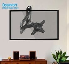 MA2710 Full Rotating 10-27 LCD TV Wall Mount Retractable Monitor Holder Bracket