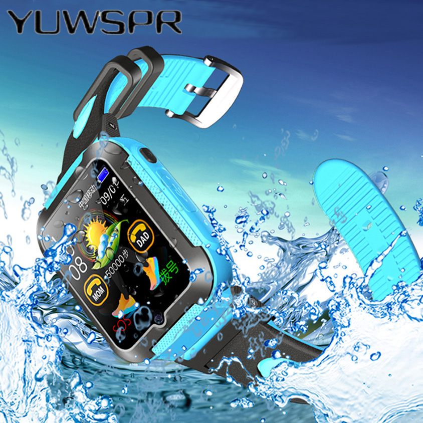 Children GPS Tracker Watch Location Waterproof Monitoring Camera Kids Smart Watches Touch Screen IOS Android Baby Wristwatch E7K
